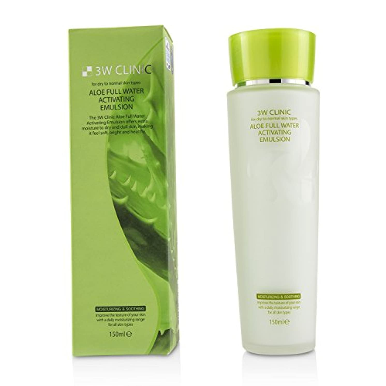 アイデア責共和国3Wクリニック Aloe Full Water Activating Emulsion - For Dry to Normal Skin Types 150ml/5oz並行輸入品