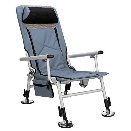 フィッシングチェア アウトドアチェア 拡張可能な脚の釣り椅子...