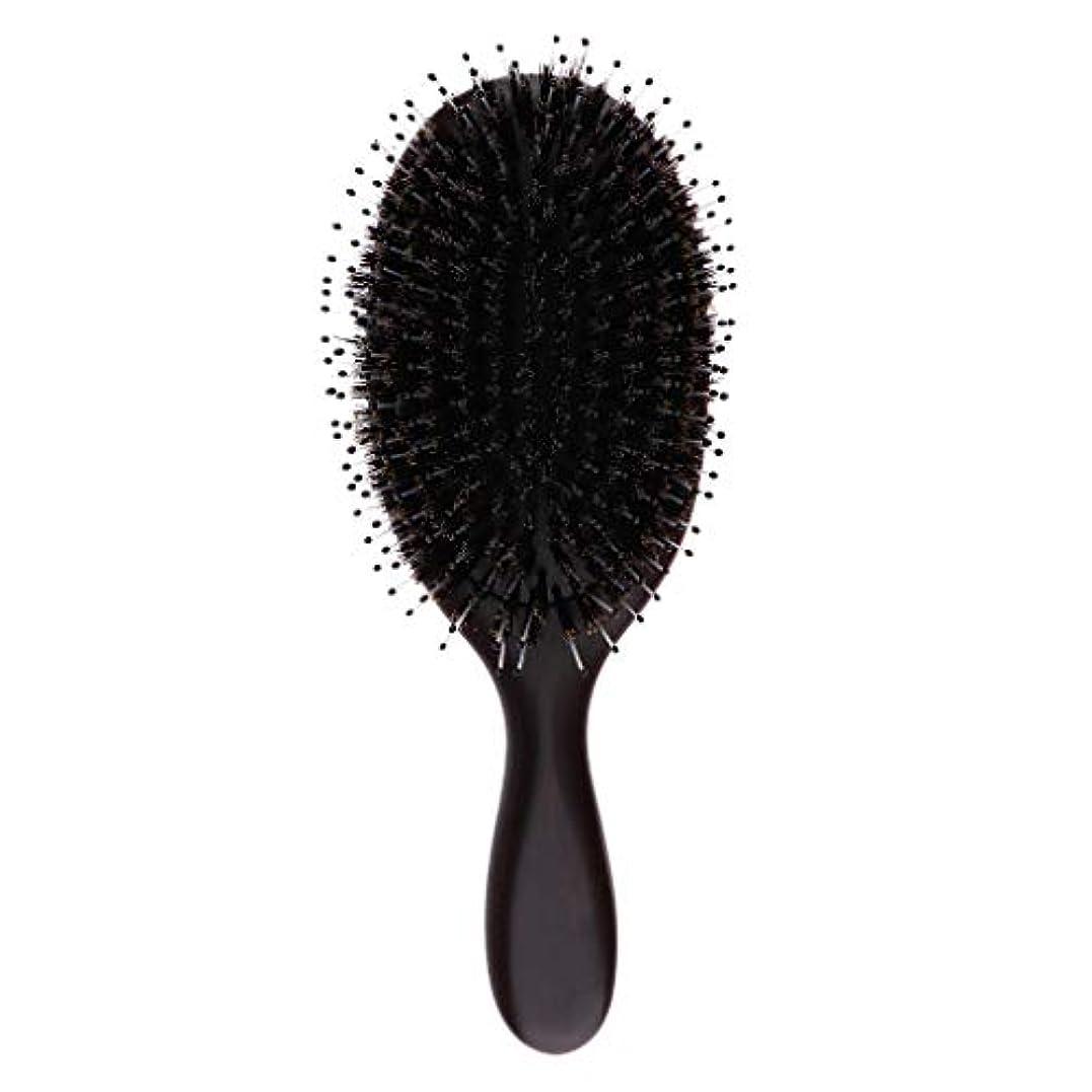 気づくなる散髪アコーヘアブラシ ヘアケア 木製 頭皮 マッサージ 艶髪 木製櫛 美髪ケア 全3サイズ - 大
