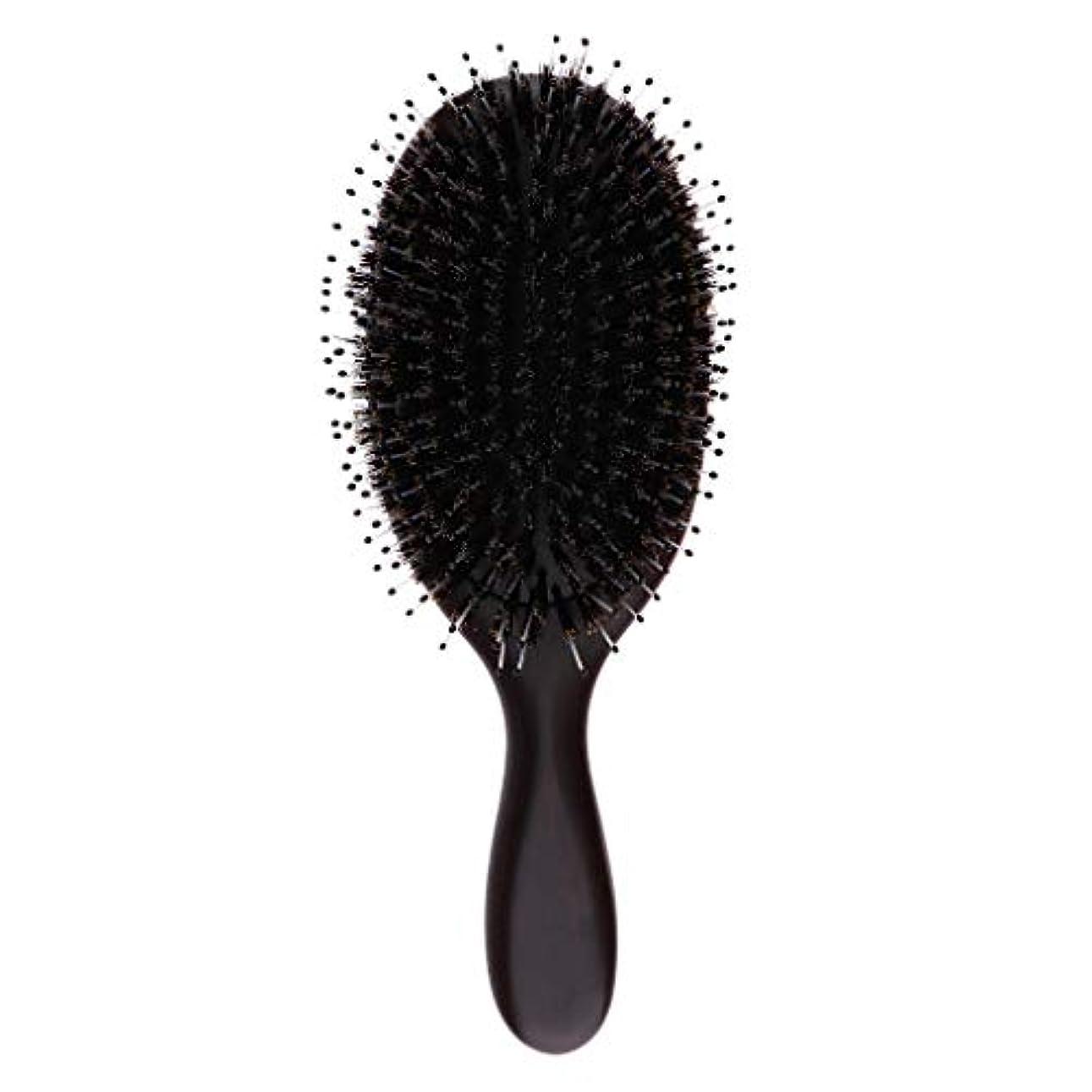 開示するバケツ海ヘアブラシ ヘアケア 木製 頭皮 マッサージ 艶髪 木製櫛 美髪ケア 全3サイズ - 大