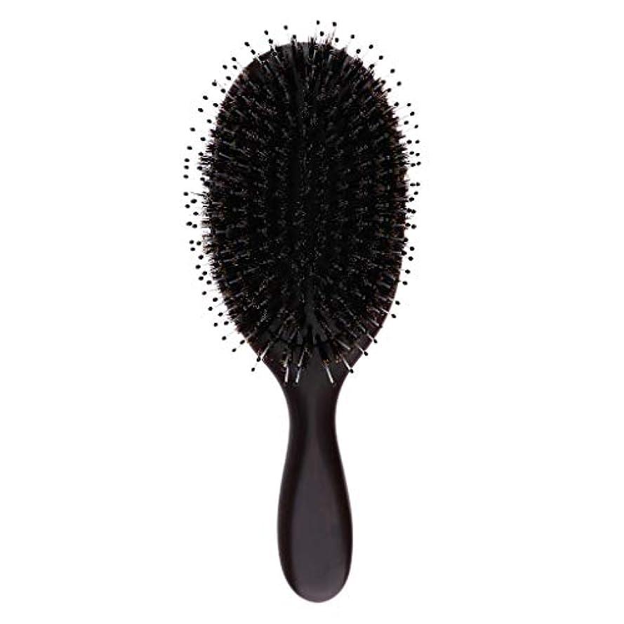 グレードマウント鉛筆ヘアブラシ ヘアケア 木製 頭皮 マッサージ 艶髪 木製櫛 美髪ケア 全3サイズ - 大