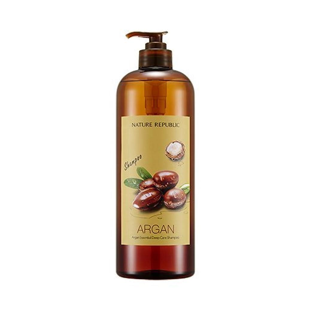 眠いです拮抗する微生物NATURE REPUBLIC Argan Essential Deep Care Shampoo 1000? ネイチャーリパブリック アルガンエッセンシャルディープケアシャンプー(大容量) [並行輸入品]
