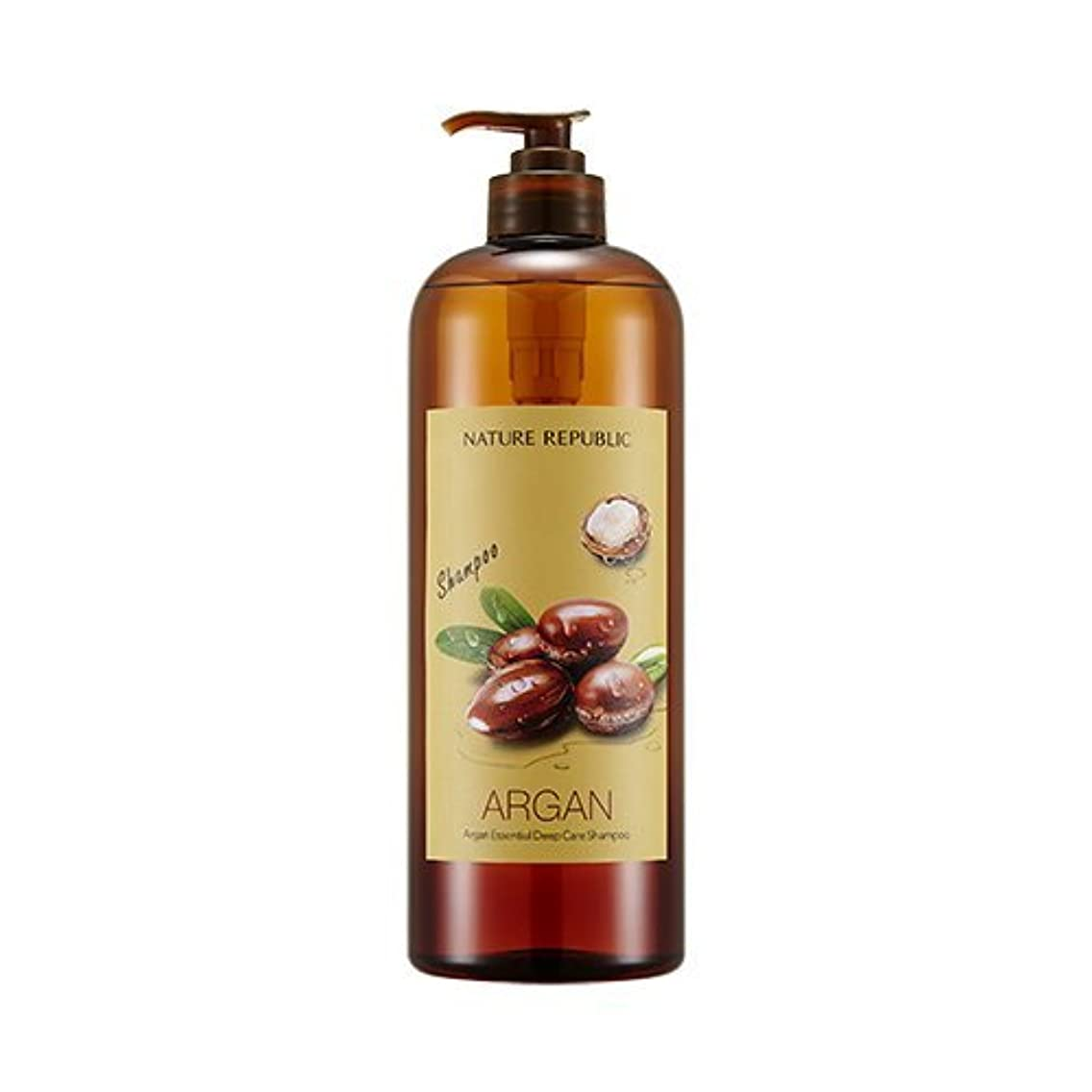問題カーフ確認NATURE REPUBLIC Argan Essential Deep Care Shampoo 1000? ネイチャーリパブリック アルガンエッセンシャルディープケアシャンプー(大容量) [並行輸入品]