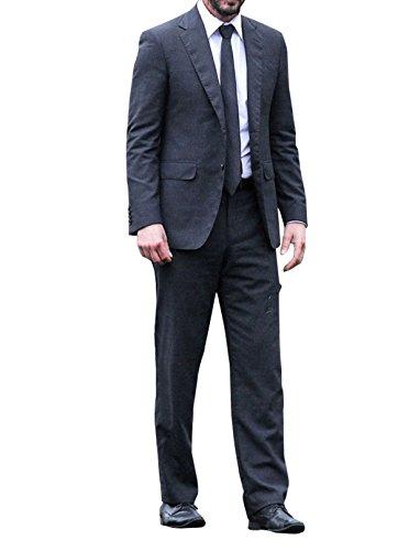 ジョン・ウィック2Keanu Reevesブラック2Piece Suit for Men US サイズ: XL カラー: ブラック