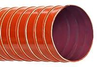 Hi-Tech Duravent U-9 Series High Temperature Silicone Coated One Ply Fiberglass Duct Hose Brick Red 2-1/4 ID 2.5000 OD 12' Length [並行輸入品]