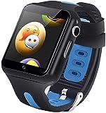 スマートウォッチ 子供gpsウォッチ キッズスマート腕時計 3Gネットワーク WIFI対応 simカード DOCOMO/LINE/SOFTBANK 見守りカメラ 通話可能 活動量計 居場所確認/メッセージ/チャット 誕生日プレゼント「日本語対応」