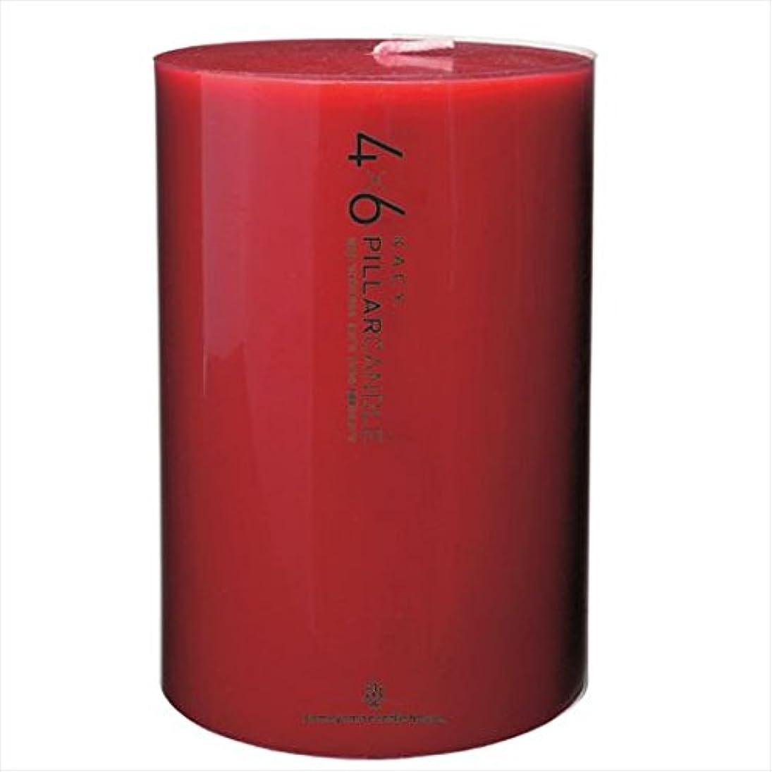 リダクター規制スピリチュアルカメヤマキャンドル(kameyama candle) 4×6ピラーキャンドル 「 レッド 」