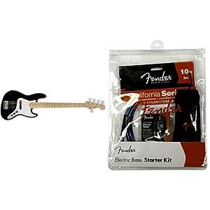 Fender エレキベースセット AM STD J-BASS V MN BLK