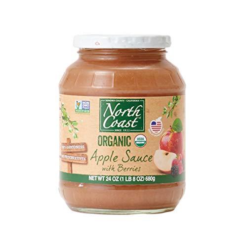 オーガニック アップルソース ミックスベリー (有機 化学調味料無添加 砂糖不使用 100%天然 ノースコースト)