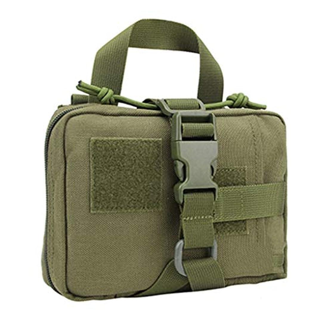 支援する抜本的な素晴らしさ屋外戦術医療キットポータブルサバイバル緊急パッケージナイロン医療収納袋/黒、茶色、緑/ 18 x 14 x 5 cm LXMSP (Color : Green)