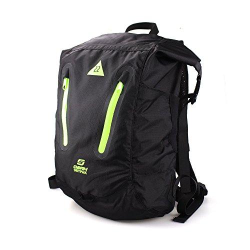 【OSAH】防水バックパック デイバック リュック 22L ザック 軽量 防水 アウトドア キャンプ ハイキング 旅行 通勤 自転車 男女兼用(UCB05-A1322)