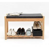 靴ラックソリッドウッドシンプルモダンマルチレイヤー経済タイプ家庭用戸口靴ベンチ (サイズ さいず : D)