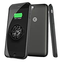 iPhone 6/6S Battery Colorful CaseTinpec Ultra Slim (only add 0.16 inches of thickness and 2.4 ounce weight to your iPhone 6/6S)Extended Battery Colorful Case 2400mAh(Black) [並行輸入品]