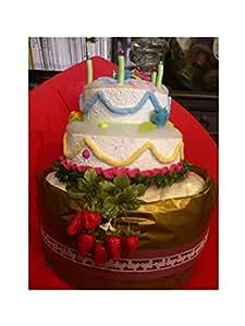 オムツケーキのデコレーションケーキ