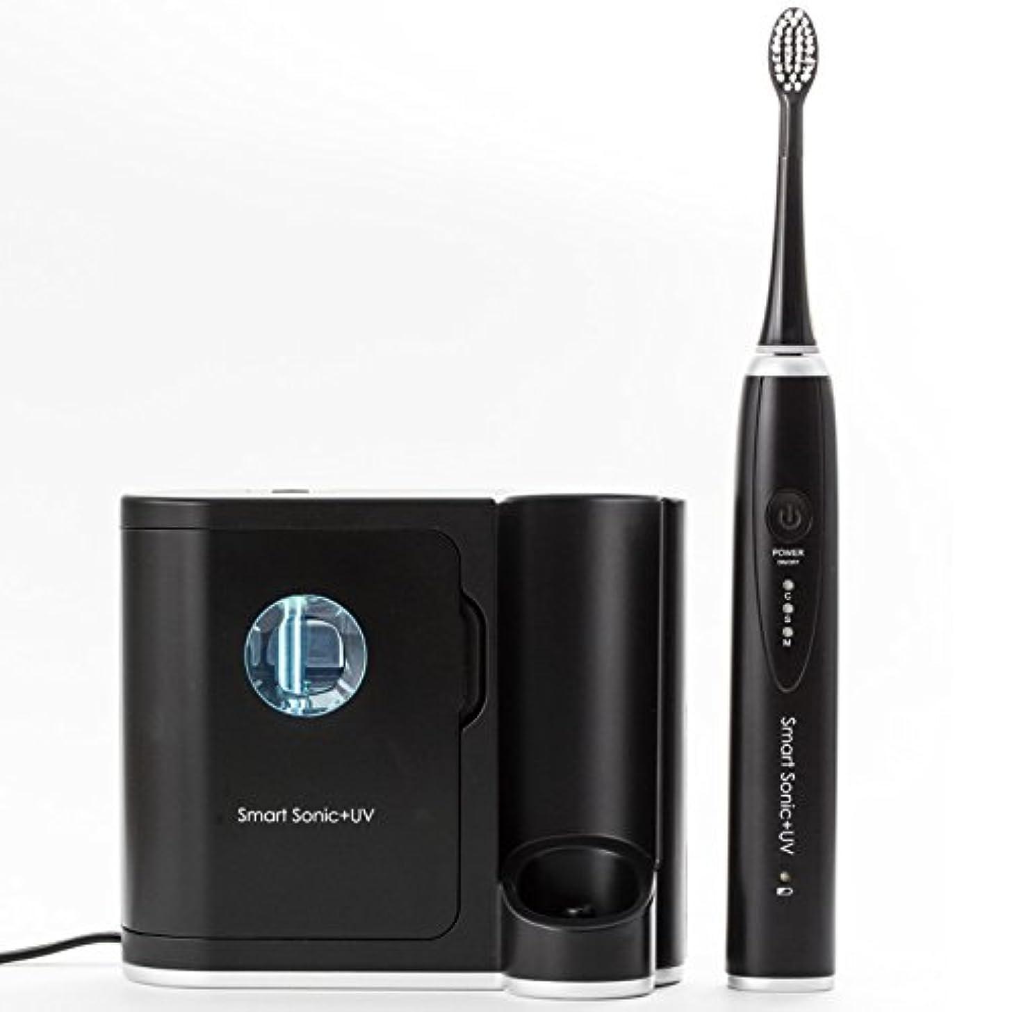 音声学透明に男やもめ音波歯ブラシ UV 紫外線除菌 歯ブラシ 殺菌機能付き 電動歯ブラシ スマートソニック プラス UV Smart Sonic UV