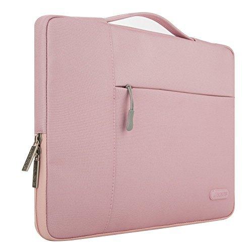 Mosiso ポリエステル 多機能 インナーバッグ 手提げバッグ プロテクターケース 13-13.3インチ ラップトップ/ノートブック/MacBook Air/MacBook Pro用 キャリングバッグ(ピンク)