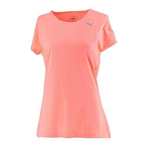 PUMA(プーマ)レディース ランニングウェア VENT スピード Tシャツ フィットネスウェア 516149 02NRGYピーチ L