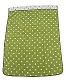 西川産業 babypuff カラフルドットタオルケット 85x115cm オリーブグリーン 綿100% LFY5001950