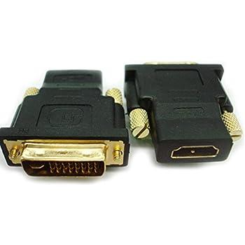 小型アダプタ 24+5(DVI-I デュアルリンク:オス) × HDMIメス