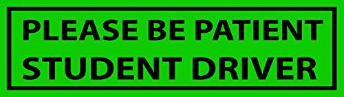 Please Be Patientドライバ学生自動車すべて天気4SeasonsビニールデカールステッカーPumperウォールステッカー 23