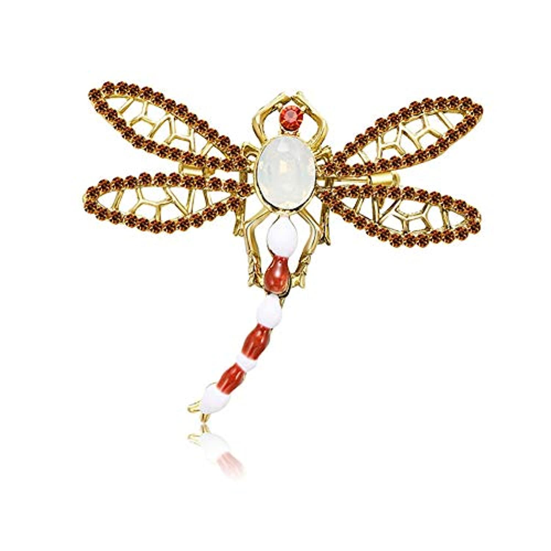 Ruikey ファッション レディース 蜻ブローチ クリエイティブ おしゃれ ブローチピン 個性 パーソナリティ デザイン アクセサリー ジュエリー