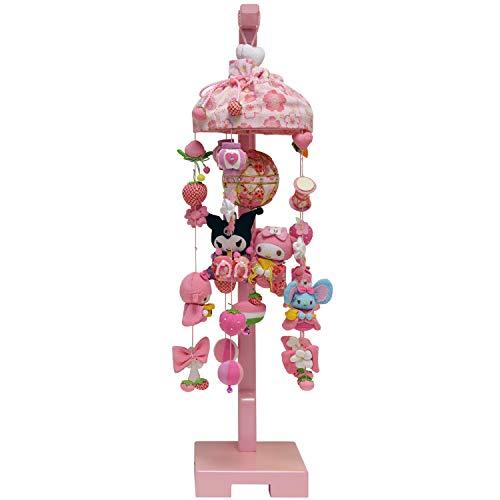 雛人形 つるし飾り つるし雛 MY MELODY マイメロディ いちごの吊るし雛