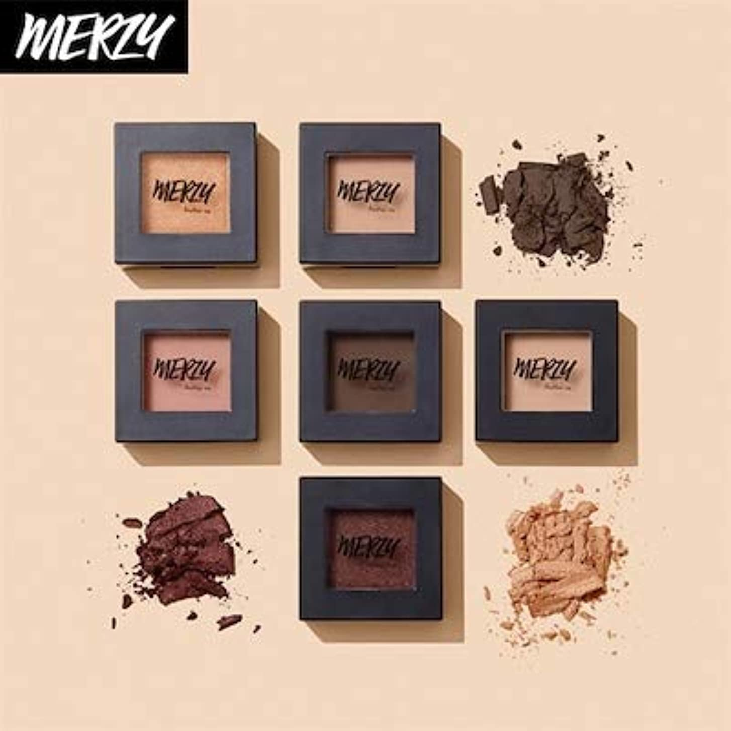 ウナギ謝るペックMERZY THE FIRST EYE SHADOW 1+1 E3 JENNIFER BROWN