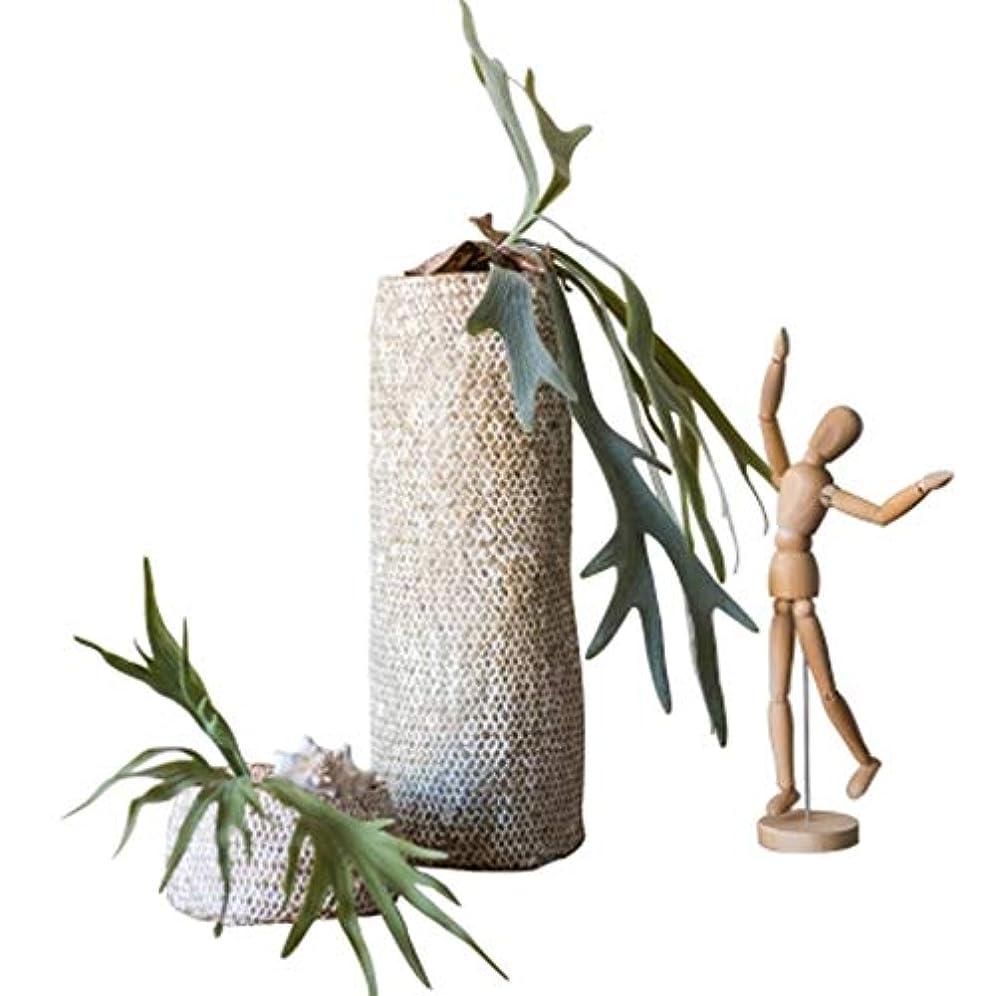 ルーを必要としています王朝SMMRB ストローフラワーバケツ花ナチュラルクラフト収納バスケットデスクトップ装飾装飾品ペンホルダーアート、サイズオプション (サイズ さいず : 13*8cm)