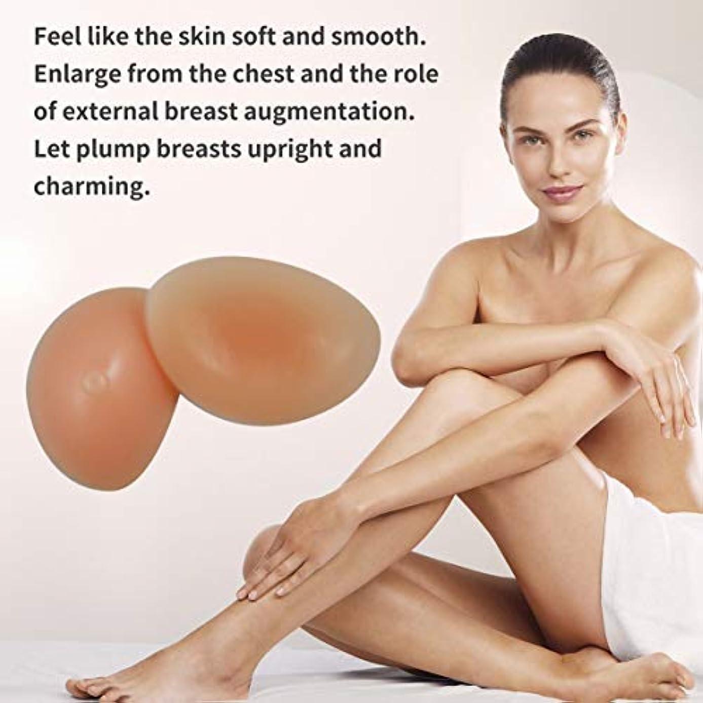 静けさ振動させる加害者シリコーンフォーム偽乳房エンハンサープッシュアップパッドブースターブラインサート人工乳房リアルな防水シリコーン乳房フォーム(肌色)