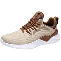80801015c157 Waymine Mens Athletic Sneakers Breathable Air Mesh Running Outdoor Round  Toe Leisure Sport Shoes Basketball Shoes