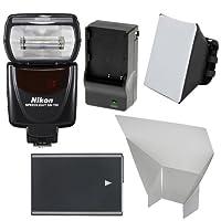 Nikon SB - 700AFスピードライトフラッシュwith en-el14バッテリー&充電器+ソフトボックス+リフレクター、d3300、d3400, d5300, d5500, d5600DSLRカメラ