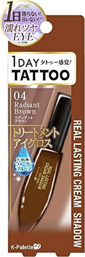 放射能ブラウン免疫するKパレット リアルラスティングクリームシャドウ04