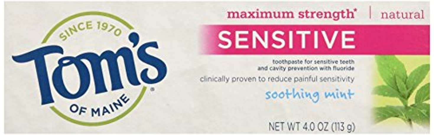 Tom's Of Maine Maximum Strength Sensitive Toothpaste Soothing Mint 4 oz ?????