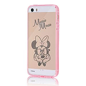 レイ・アウト iPhone SE/iPhone5s/iPhone5 ケース ディズニー ハイブリッド(TPU+ポリカーボネイト) ケース ミニーマウス RT-DP11U/MN