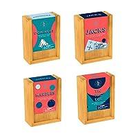 クラシック木製ゲームコレクション ドミノ ジャック ビー玉 三目並べ