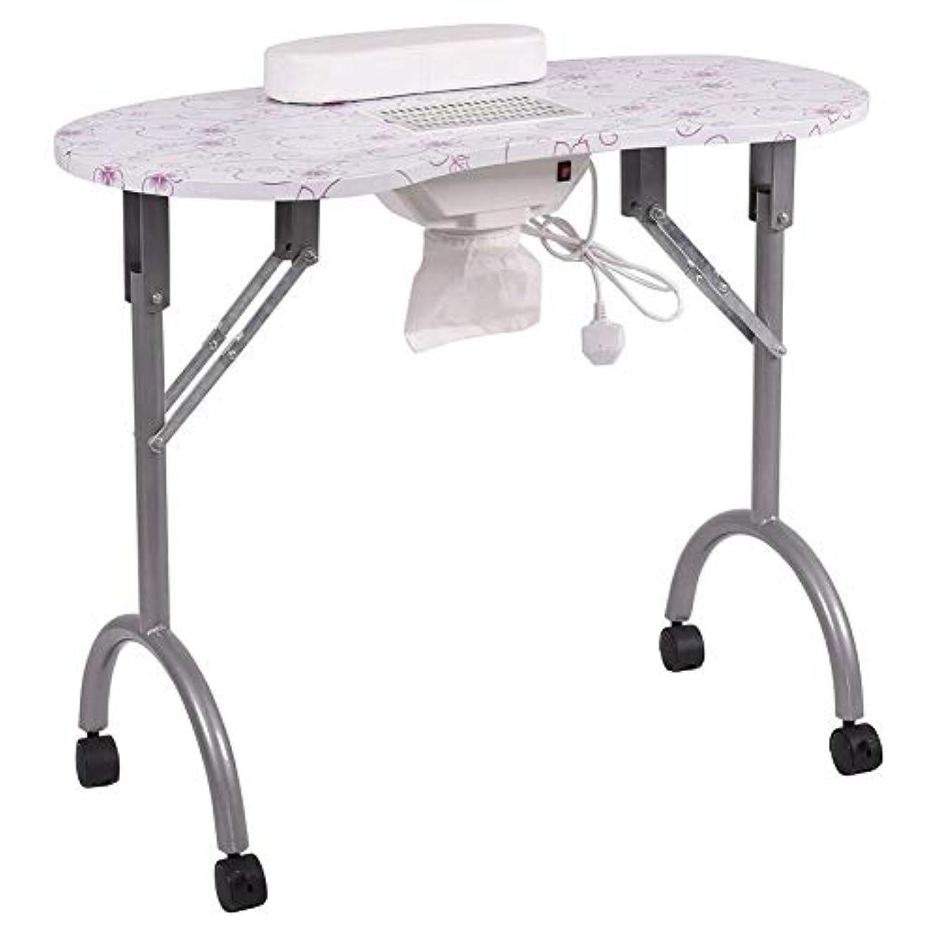 データベース疑問を超えて鍔ネイルテーブル折りたたみ式ポータブルマニキュアテーブルベントマニキュアワークステーションネイルデスクサロンスパネイル掃除機andbag