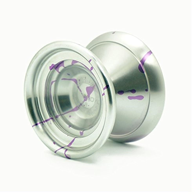 MAGIC YOYO K8大きい 新しいボールアルミ合金ヨーヨー スプラッシュ シルバー+紫