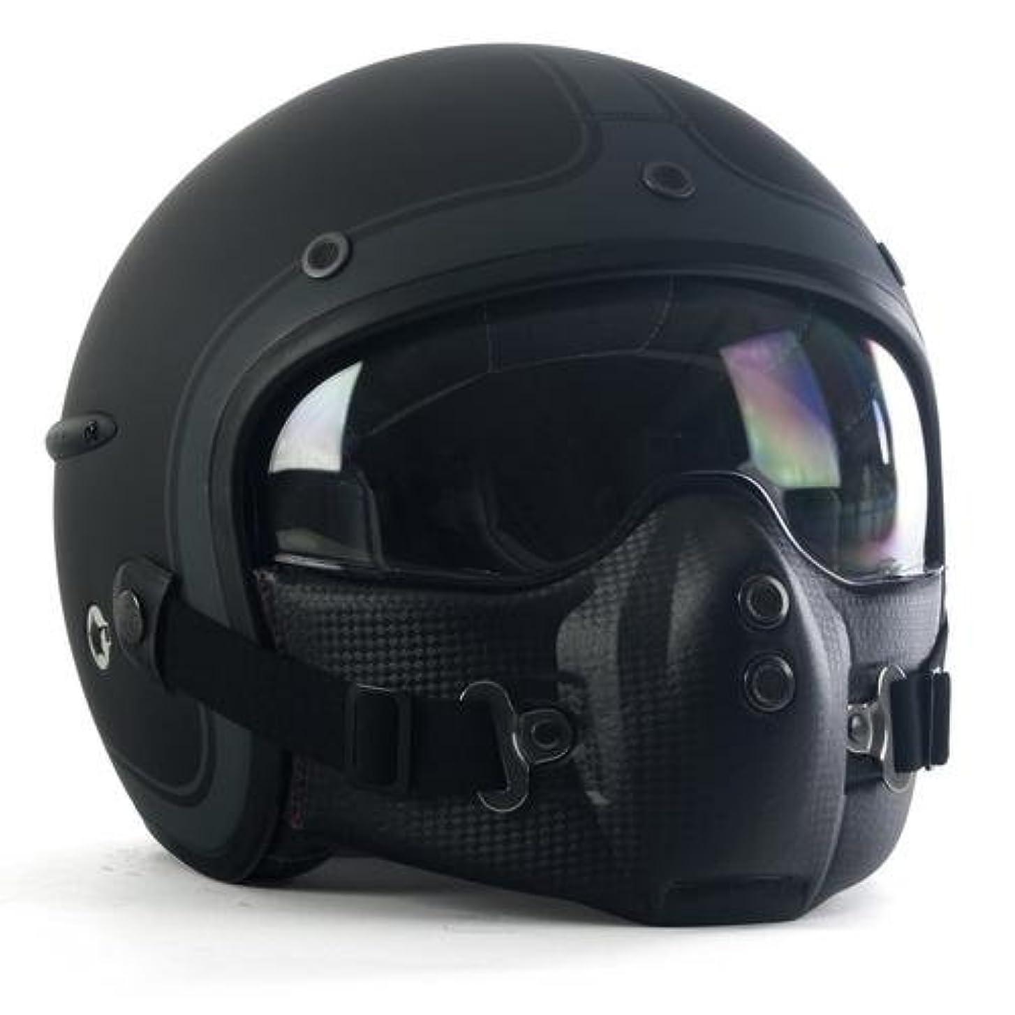 ペンバーゲン行HARISSON (ハリソン) CORSAIR MAT DECO コルセア マットデコ マットブラック ジェット ヘルメット S (55-56cm)サイズ CA112