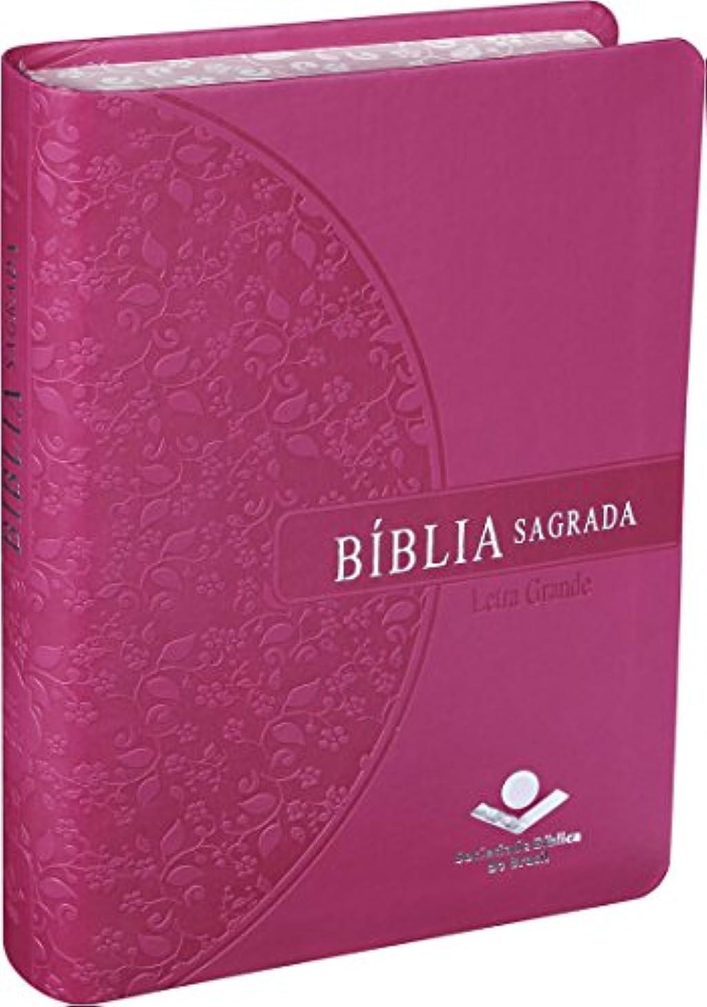 トピックインシュレータ安いですBiblia Sagrada Letra Grande - Rosa - SBB