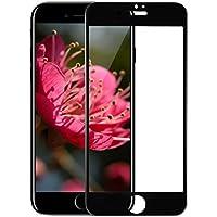 iPhone 8 Plus ガラスフィルム 液晶保護フィルム 強化ガラス 3D 飛散防止 気泡ゼロ ラウンドエッジ加工 9H (ブラック)
