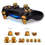kwmobile Playstation 4 Controller (1. Gen) 用 交換ボタン - ショルダーボタン 付き - アルミ製 置換ボタン セット