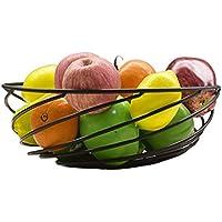 Fruit basket 曲線のリビングルームファッションフルーツプレート錬鉄塗装大容量フルーツバスケット黒