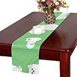 GGSXD テーブルランナー 面白い ペルシア猫 クロス 食卓カバー 麻綿製 欧米 おしゃれ 16 Inch X 72 Inch (40cm X 182cm) キッチン ダイニング ホーム デコレーション モダン リビング 洗える