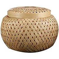 TeFuAnAn バスケット 収納バスケット 収納ボックス 茶収納 保存容器 茶缶 茶の貯蔵バスケット 茶箱 ギフトボックス 竹製 織り 天然