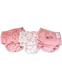 子供 下着 女の子 パンツ ショーツ maya's 女児 綿100% イチゴ柄 熊柄 リボン柄 プリントショーツ3枚組 90~160cm
