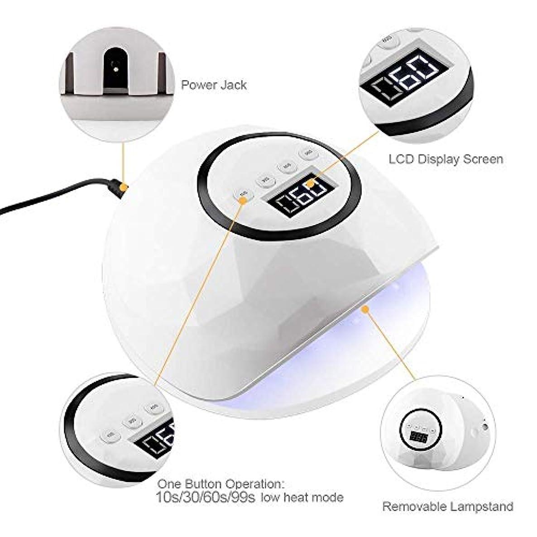 預言者伝統的起こるネイルドライヤー86ワットUV LEDランプネイルドライヤー39個LEDネイルランプ硬化用UVジェルネイルポリッシュセンサー付きLCDディスプレイ
