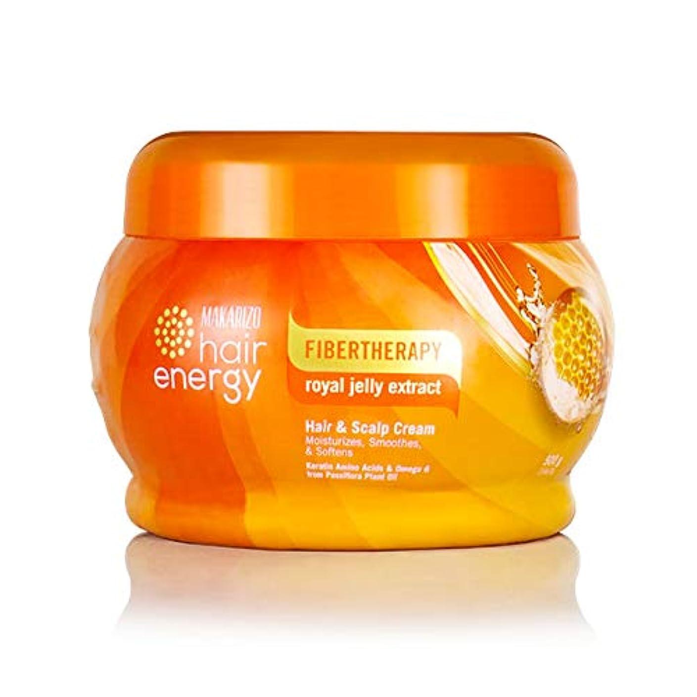 インポート冒険家ケーブルMAKARIZO マカリゾ Hair Energy ヘアエナジー Creambath クリームバス ファイバーセラピー ヘア&スカルプクリーム 500g Royal Jelly ロイヤルゼリー [海外直送品]