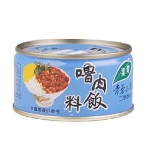 《青葉》 魯肉飯料(110g/缶)(煮込み豚肉そぼろ缶詰・ルーロウファン) 《台湾 お土産》 [並行輸入品]