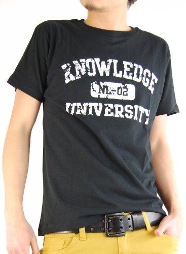 ARCADE(アーケード) 25color アメカジ ロゴプリント Tシャツ メンズ D柄ブラック L