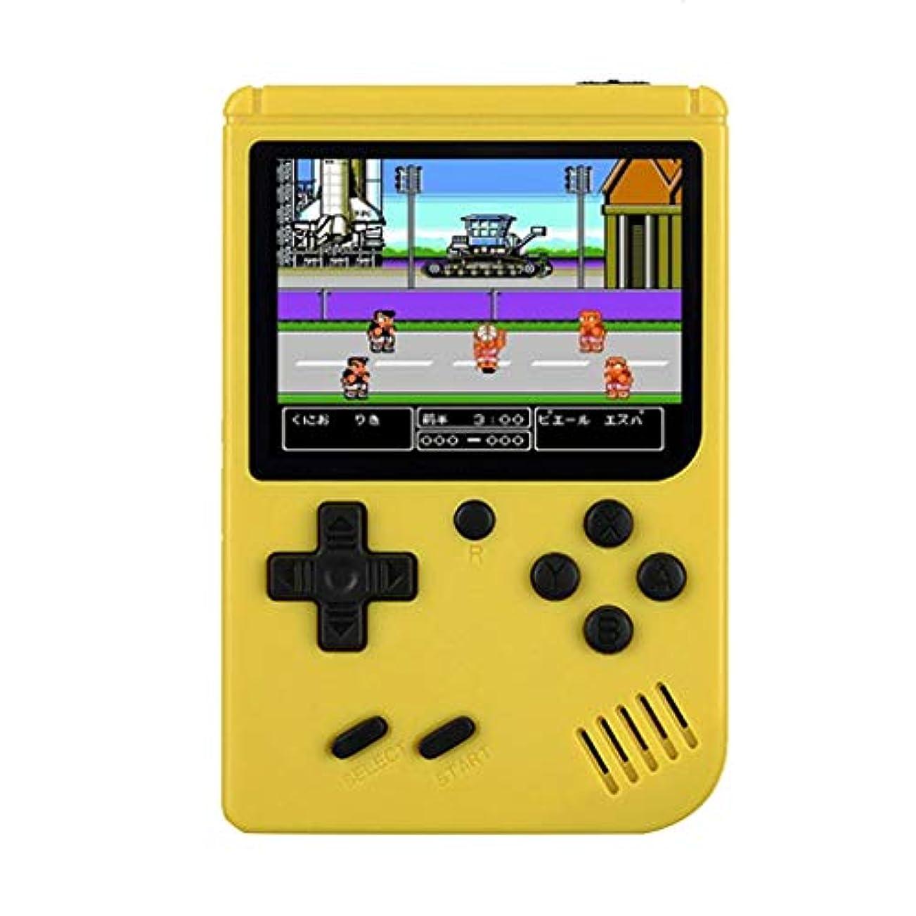 些細光健全高品質ハンドヘルドゲームコンソールのサポートテレビの接続3インチビルトイン500クラシックゲーム 子ども時代の思い出 余暇トイレパズル携帯ゲーム機
